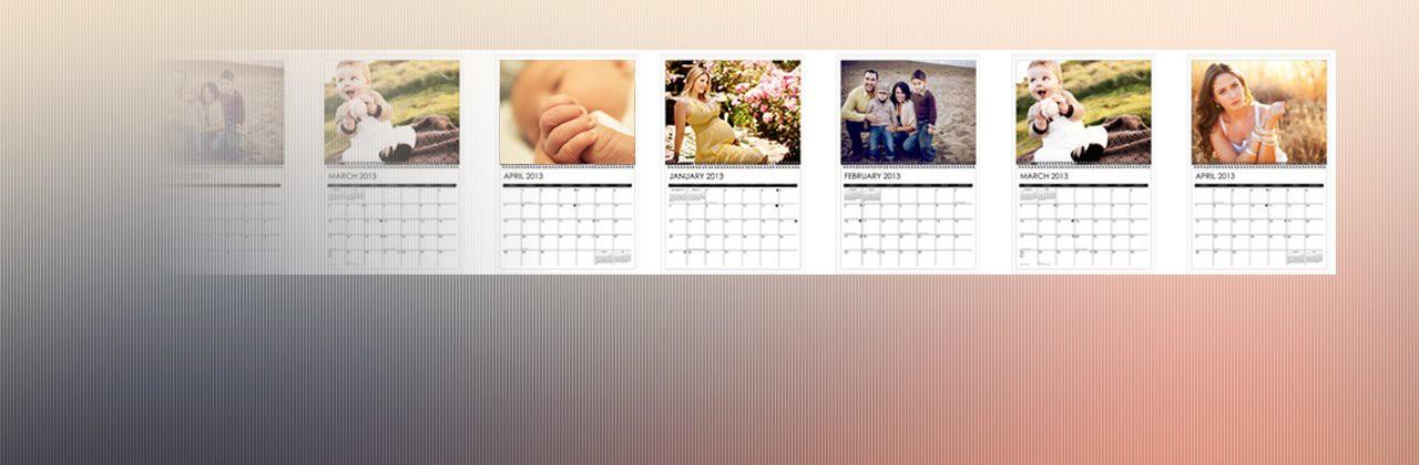 12 ciekawych inspiracji na kalendarze z własnymi zdjęciami